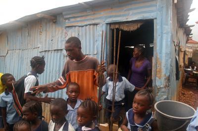 Entrada de escuela donde Tacugama imparte clases de educación ambiental